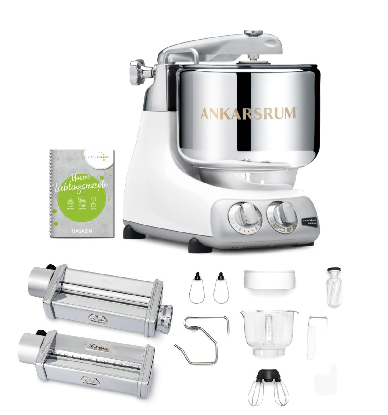 Ankarsrum Küchenmaschine Assistent Glossy White - Pasta Set