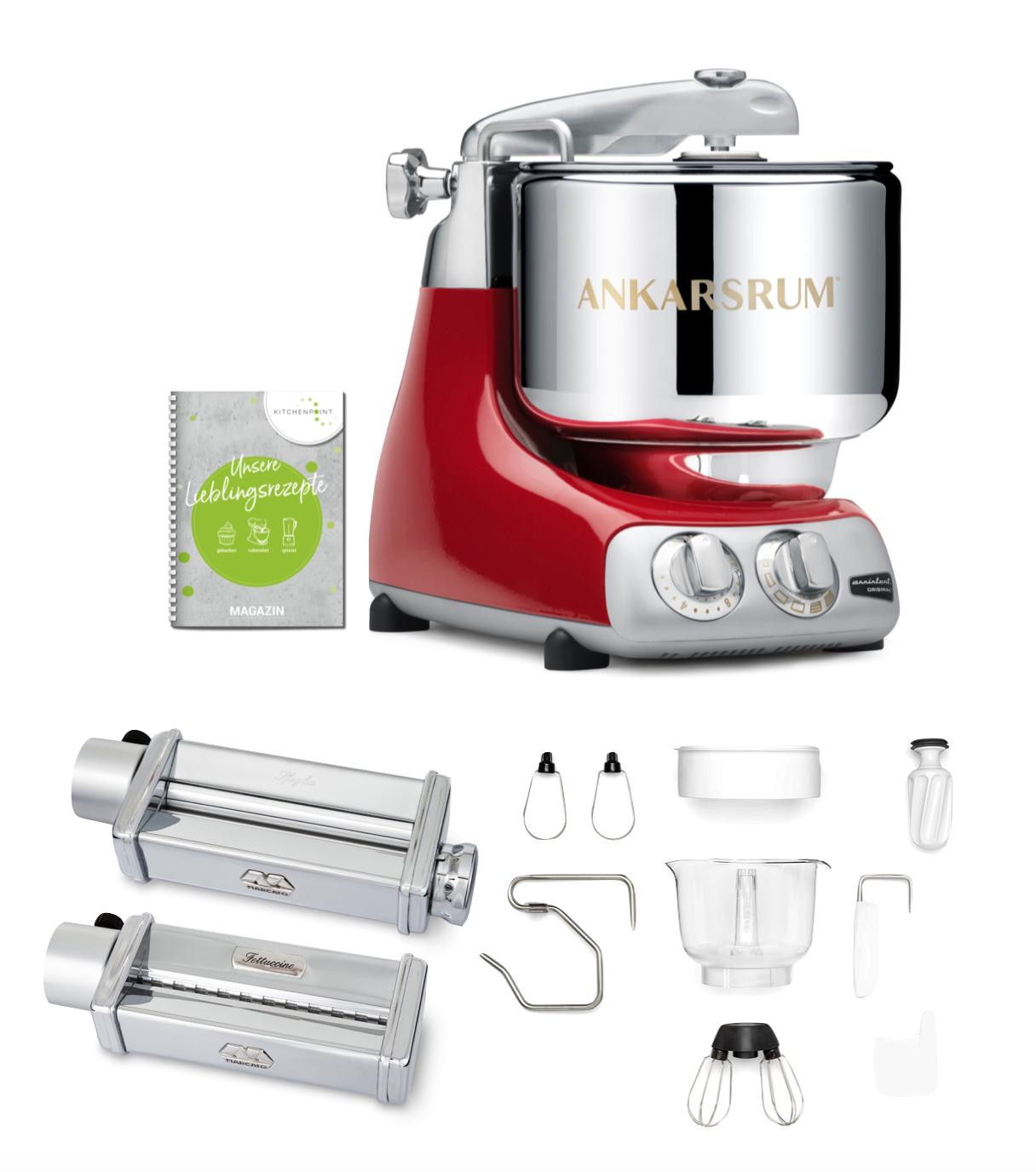 Ankarsrum Küchenmaschine Assistent Red Metallic - Pasta Set