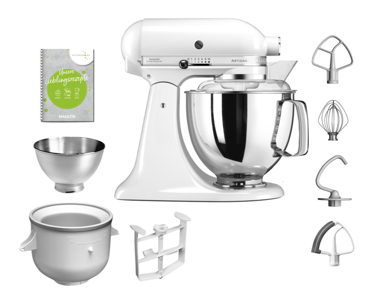 KitchenAid Küchenmaschine 175 - Eis Set weiß