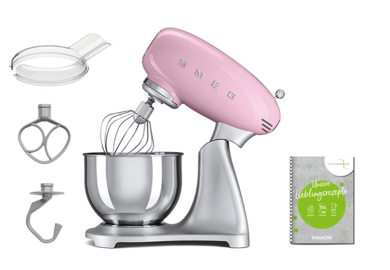 SMEG Küchenmaschine SMF02 Cadillac Pink