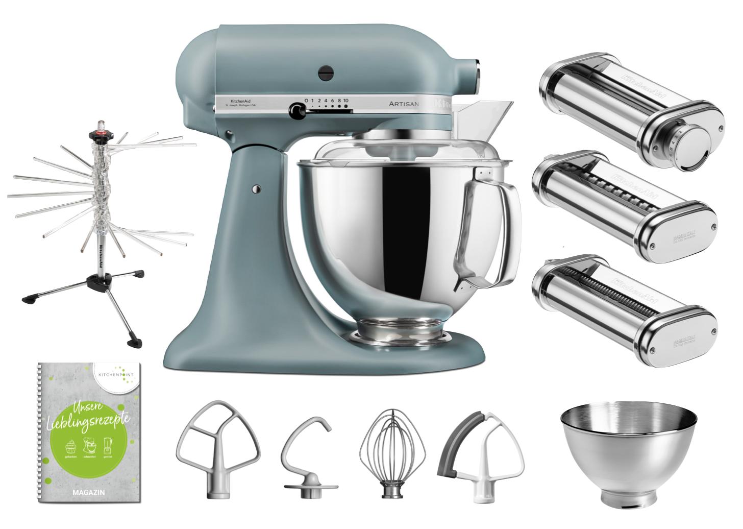 KitchenAid Küchenmaschine 175 - Pasta Set Nebelblau