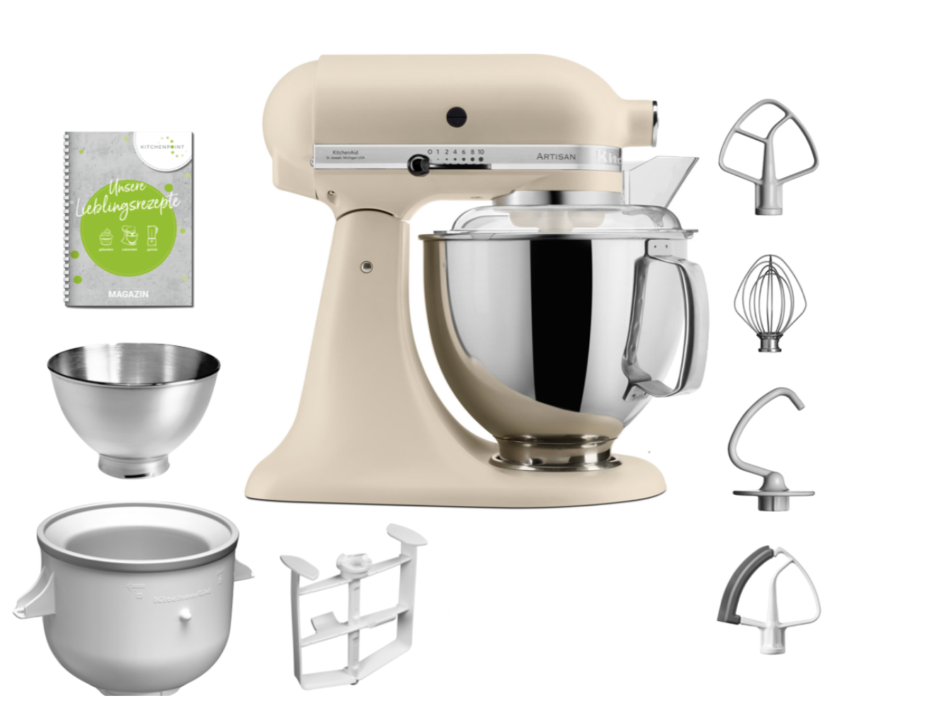 KitchenAid Küchenmaschine 175 - Eis Set FreshLinen