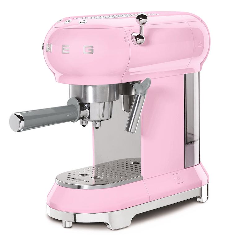 SMEG Espressomaschine Pink