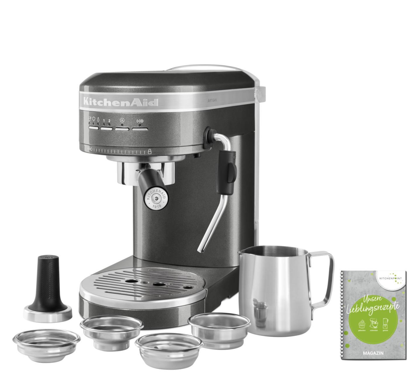 KitchenAid Espressomaschine Artisan Medallion Silber