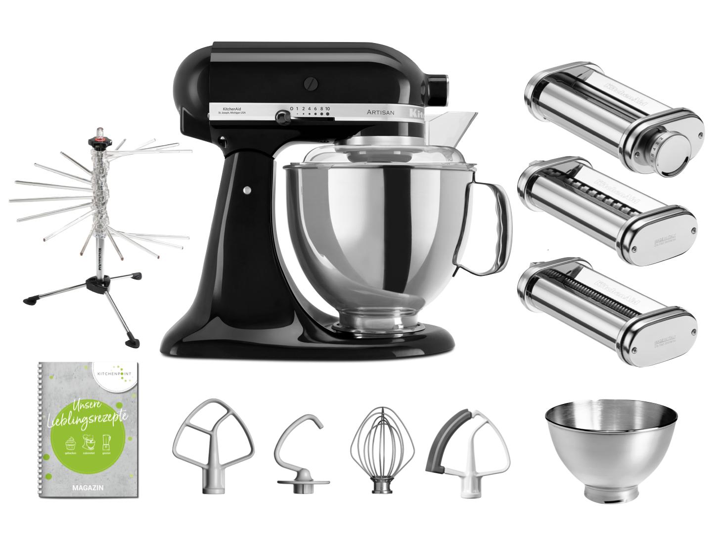 KitchenAid Küchenmaschine 175 - Pasta Set Onyx Schwarz