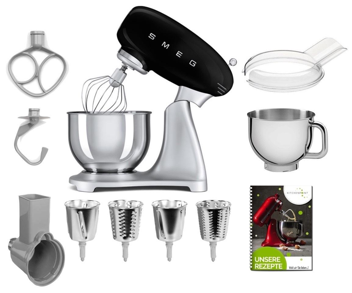 SMEG Küchenmaschine SMF02 - Gemüse Mega Set Schwarz
