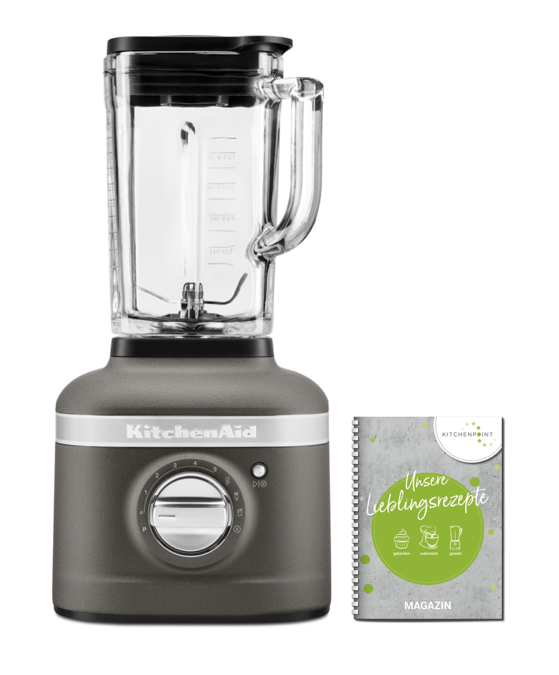 KitchenAid Artisan Blender K400 Mixer Grau