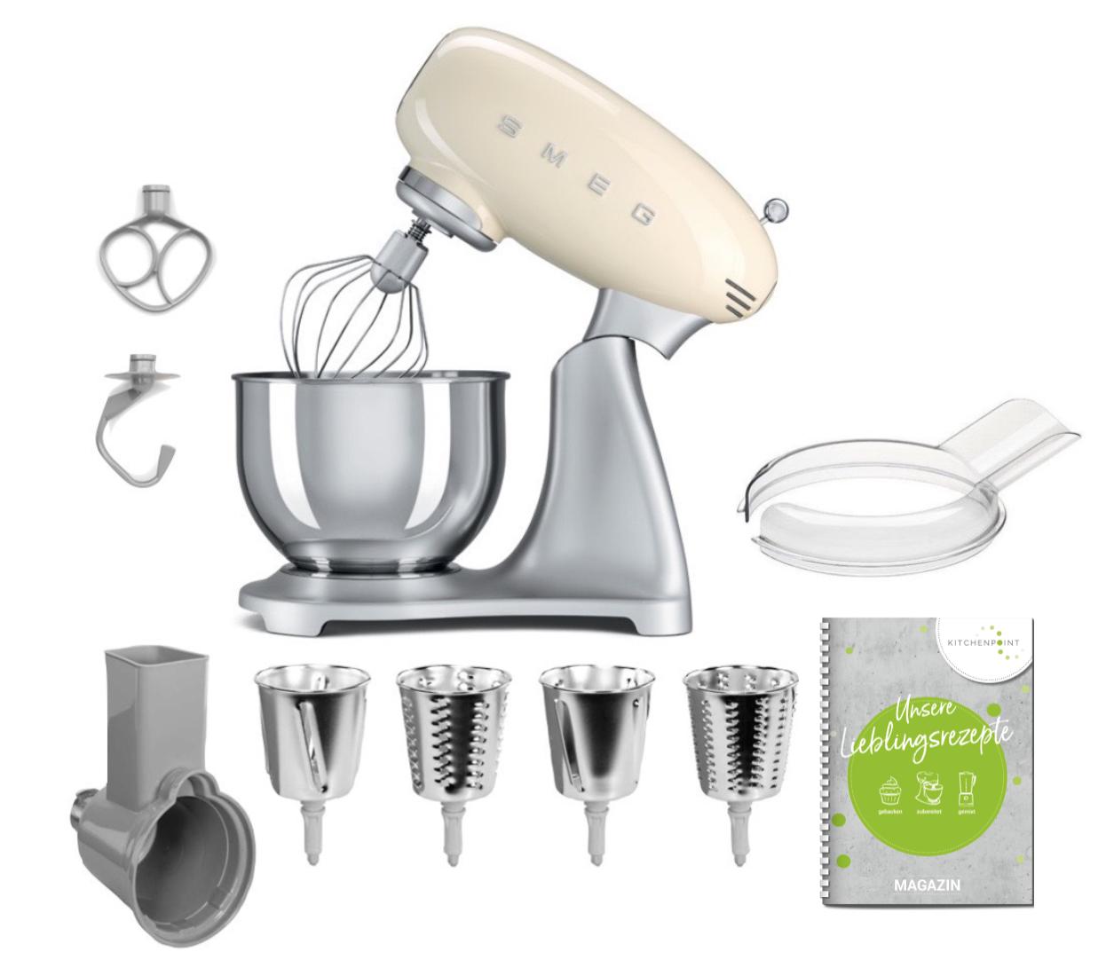 SMEG Küchenmaschine SMF02 - Gemüse Set Creme