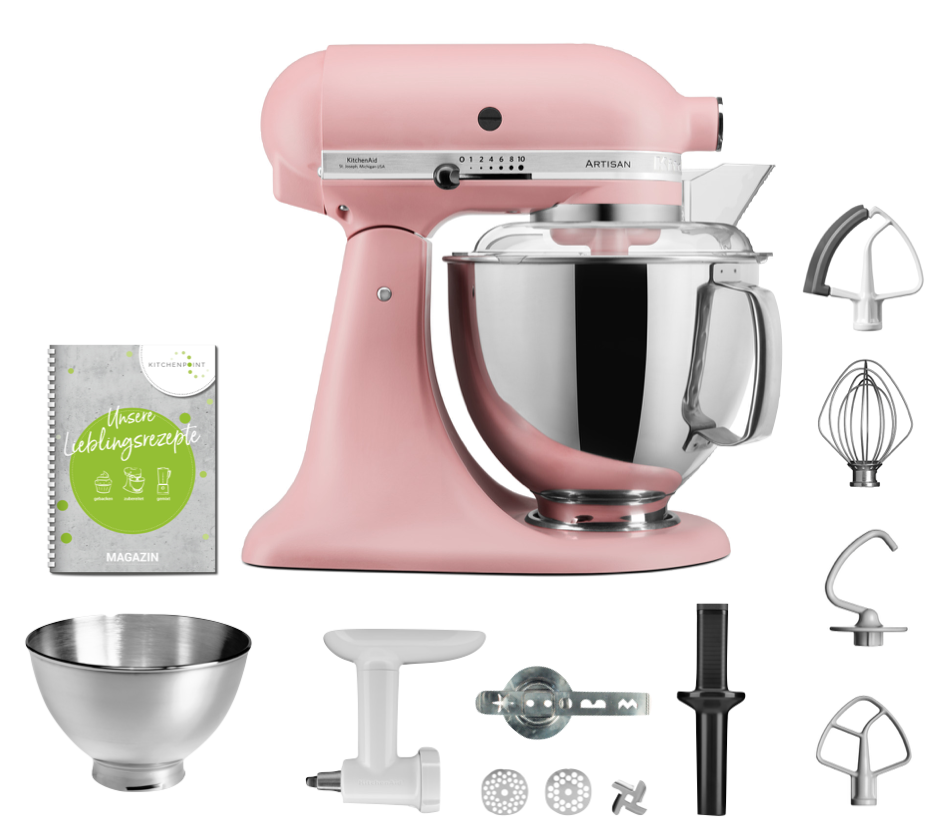 KitchenAid Küchenmaschine 175 Back Set Altrosa Pink