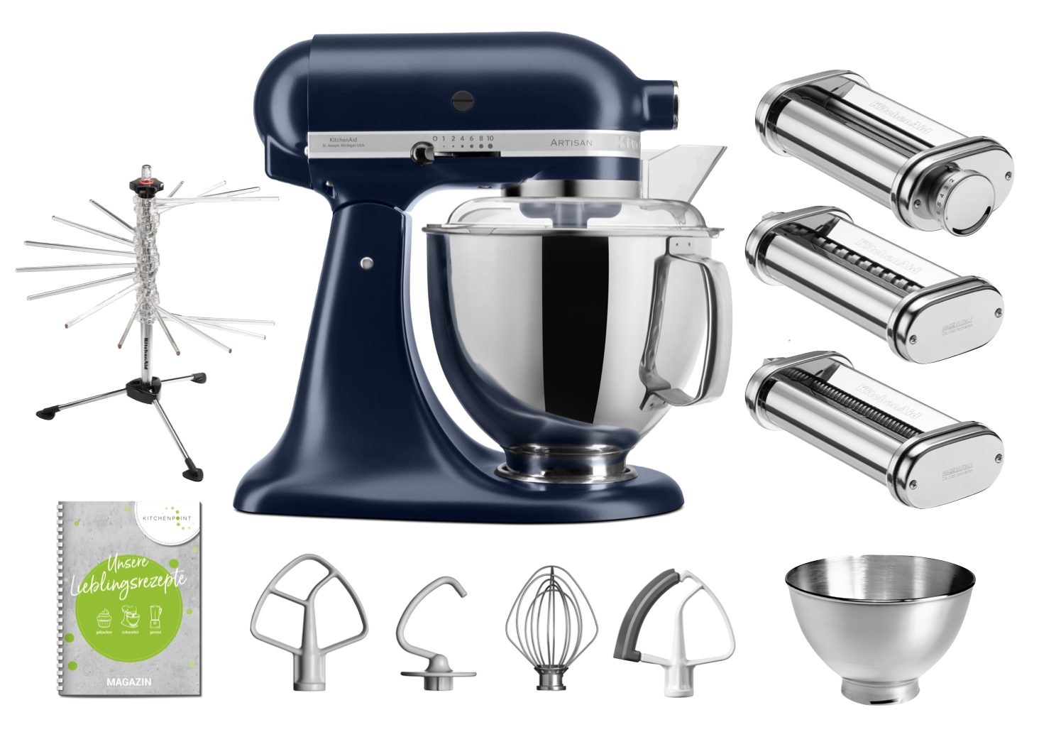 KitchenAid Küchenmaschine 175 - Pasta Set Tintenblau