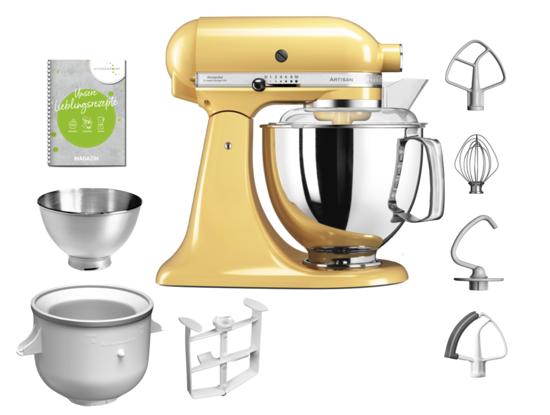 KitchenAid Küchenmaschine 175 - Eis Set Pastell Gelb