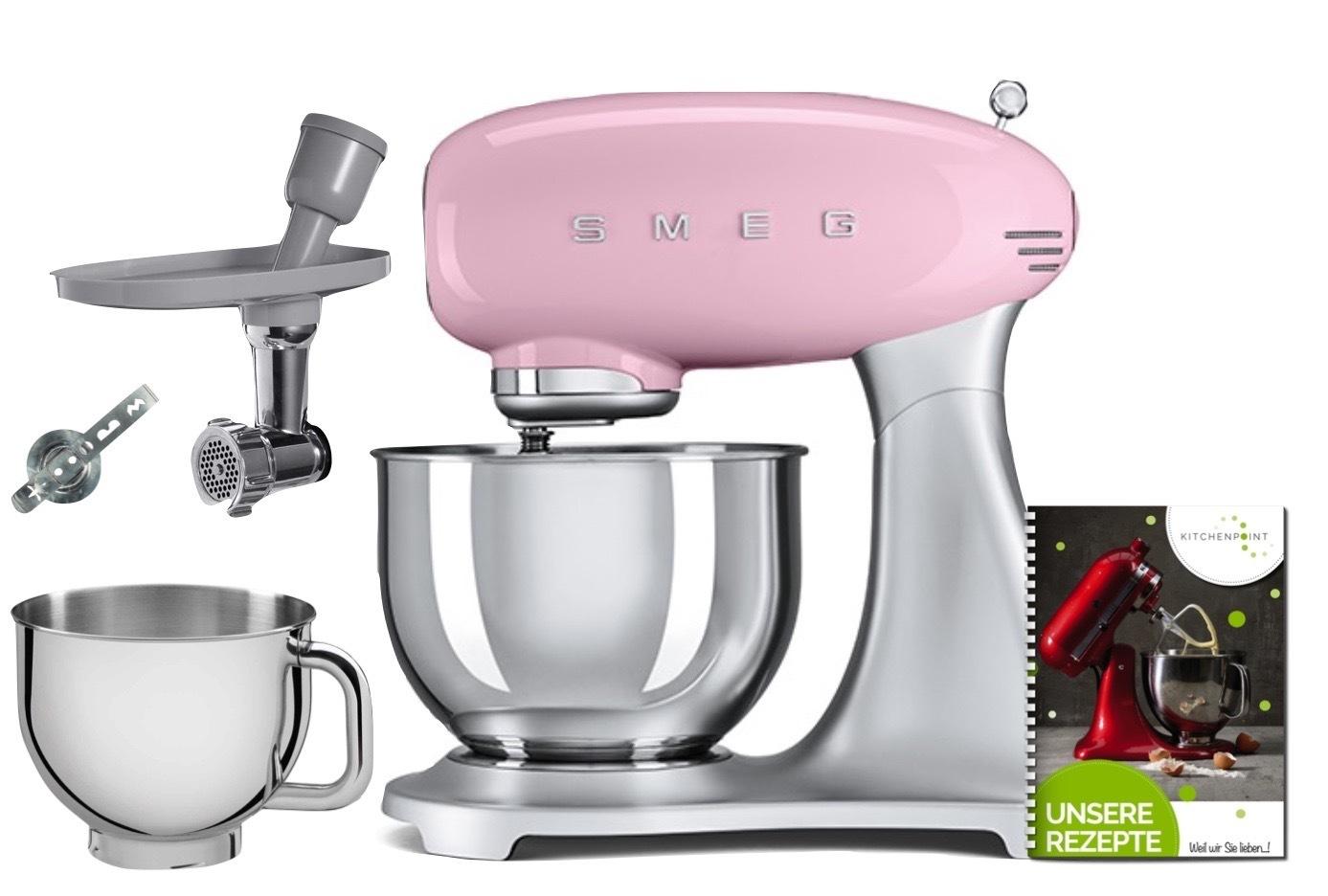 SMEG Küchenmaschine SMF02 - Back Mega Set Cadillac Pink