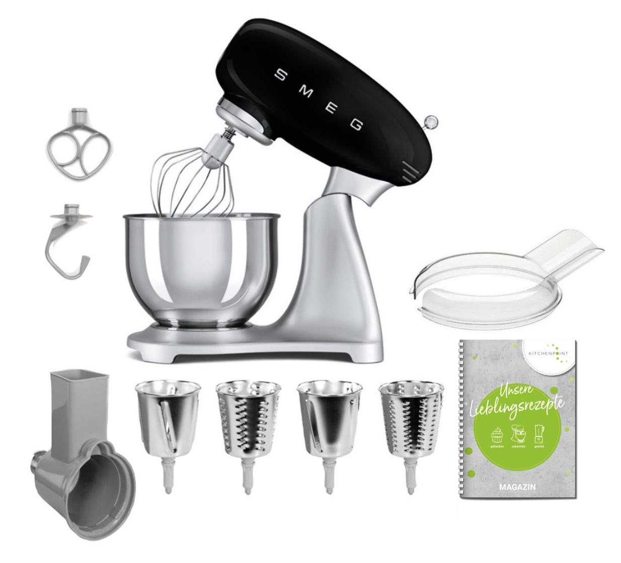 SMEG Küchenmaschine SMF02 - Gemüse Set Schwarz