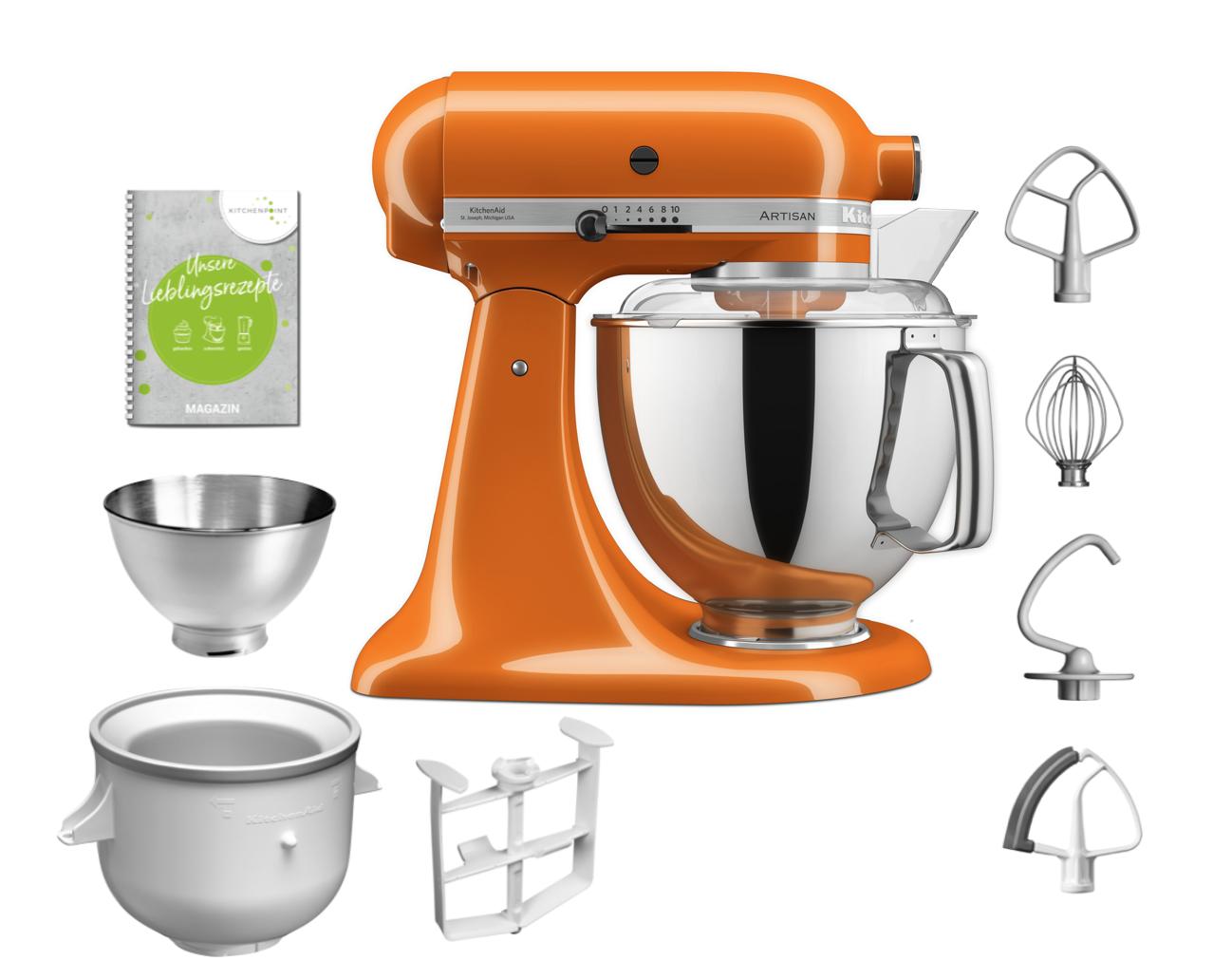 KitchenAid Küchenmaschine 175 - Eis Set Honey Orange