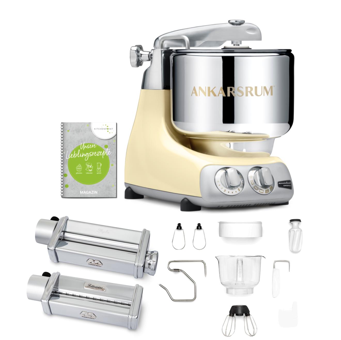 Ankarsrum Küchenmaschine Creme - Pasta Set