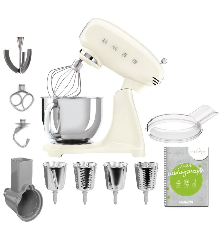 SMEG Küchenmaschine SMF03 Vollfarbe - Gemüse Set Creme
