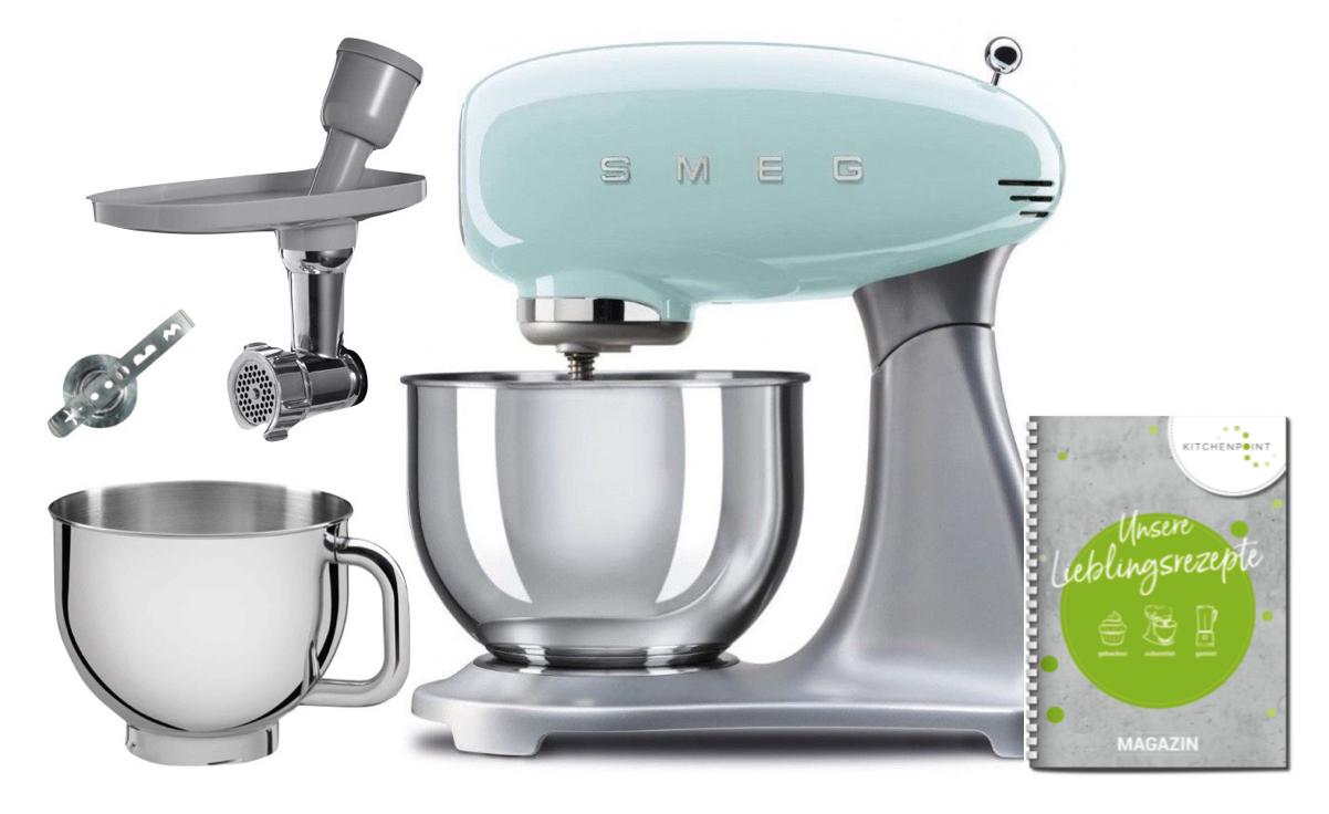 SMEG Küchenmaschine SMF02 - Back Mega Set Pastellgrün