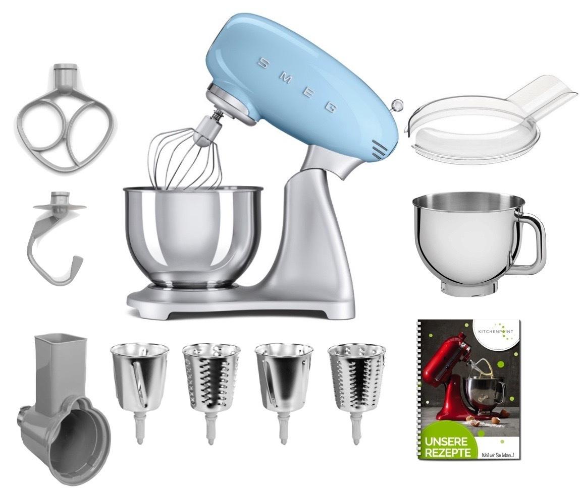 SMEG Küchenmaschine SMF02 - Gemüse Mega Set Pastellblau