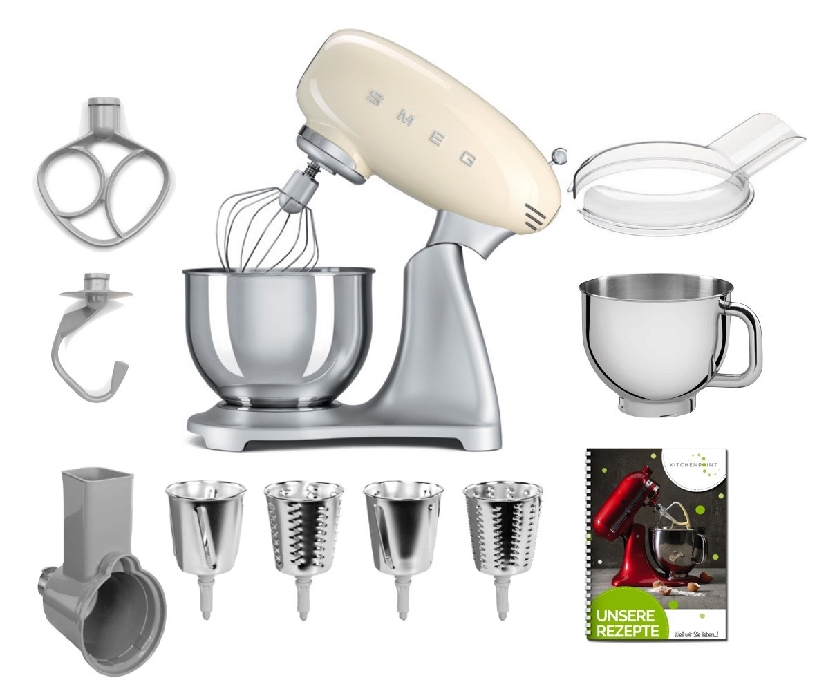 SMEG Küchenmaschine SMF02 - Gemüse Mega Set Creme