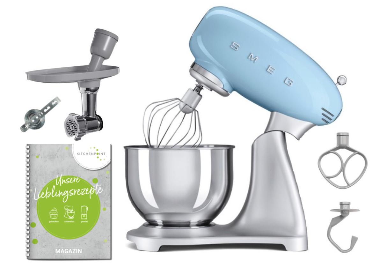 SMEG Küchenmaschine SMF02 Pastellblau - Back Set