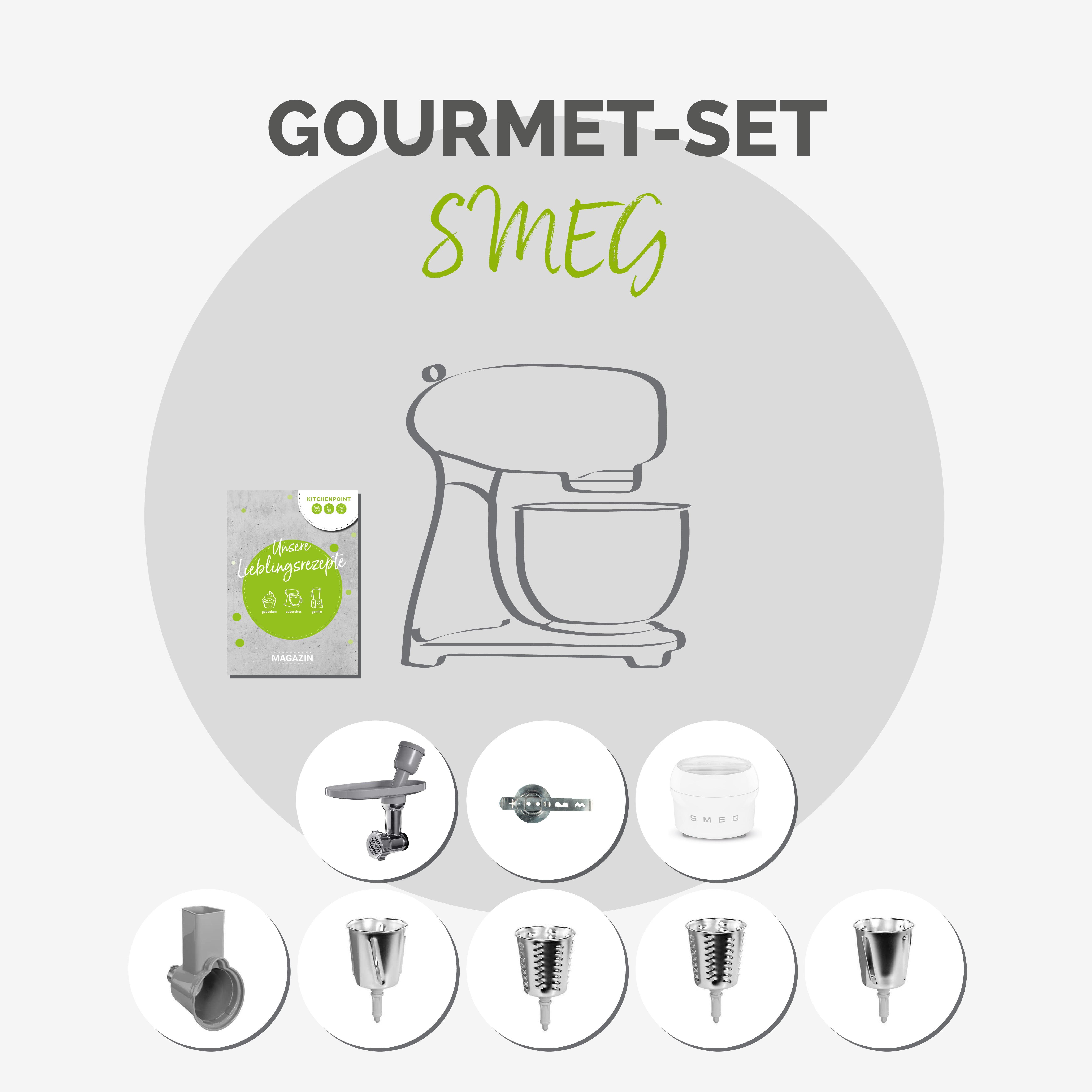 SMEG Küchenmaschine SMF03 Vollfarbe - Gourmet Set Dolce & Gabbana