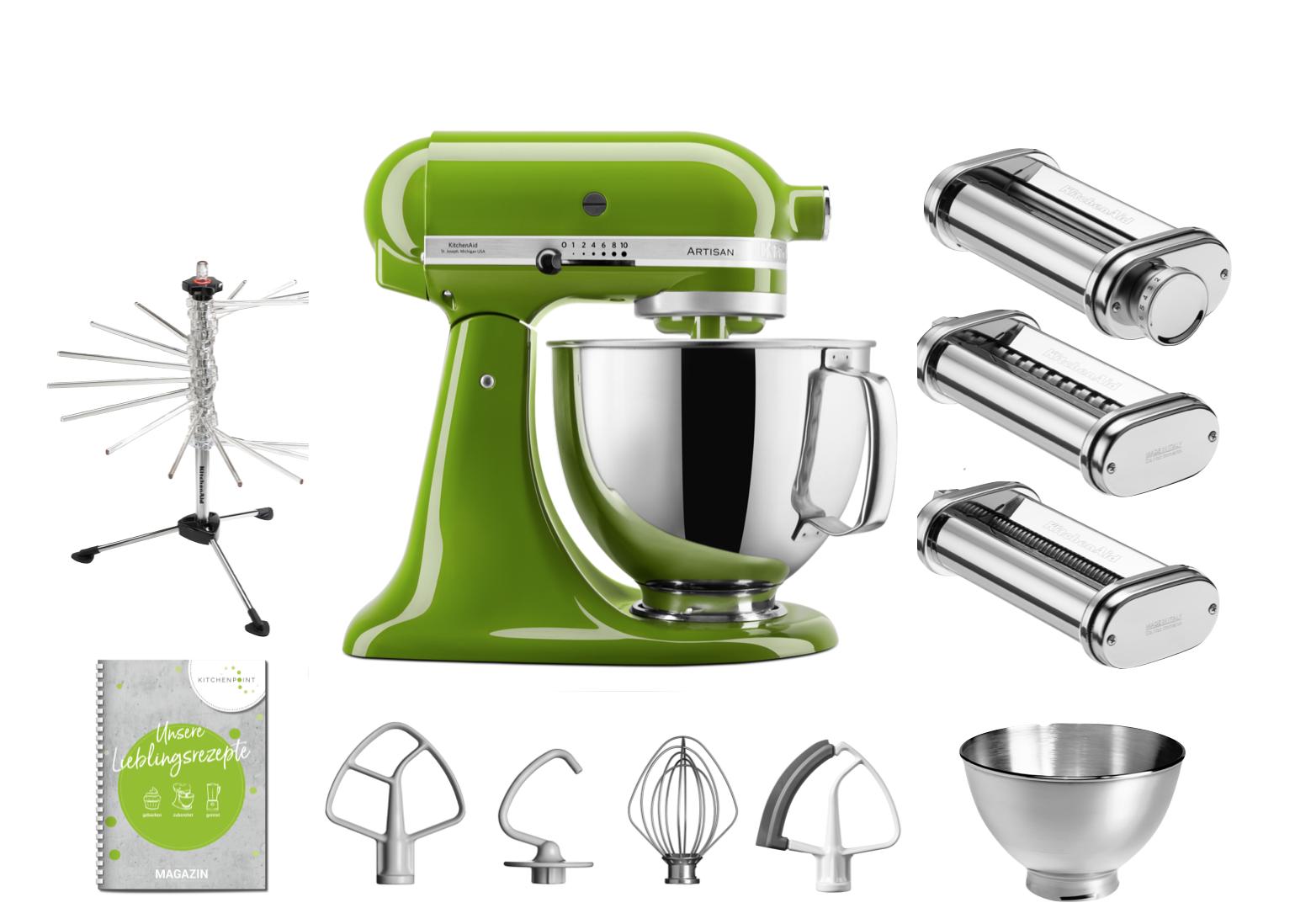 KitchenAid Küchenmaschine 175 - Pasta Set Matcha Grün