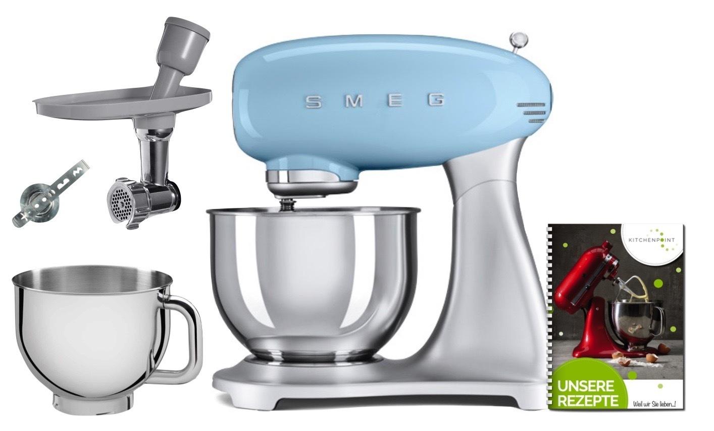 SMEG Küchenmaschine  SMF02 - Back Mega Set Pastellblau