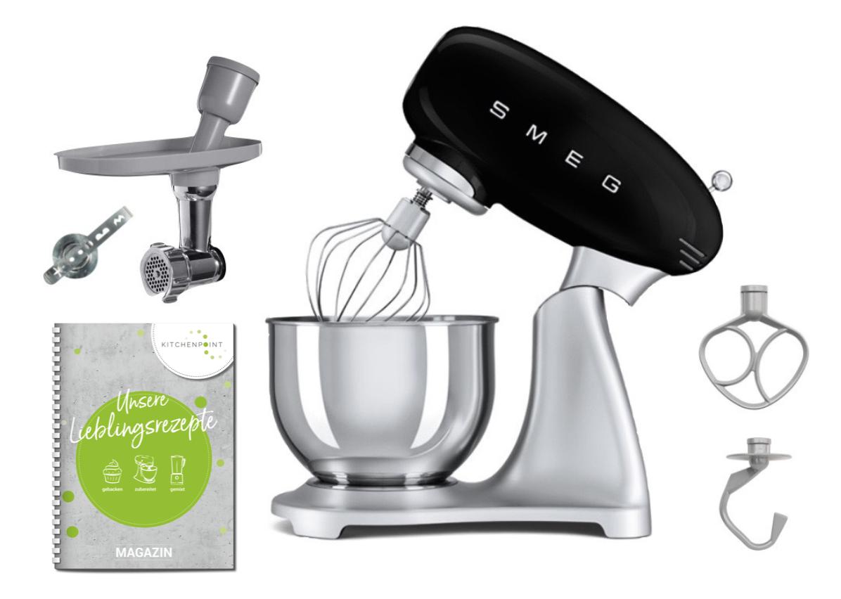 SMEG Küchenmaschine SMF02 Schwarz - Back Set