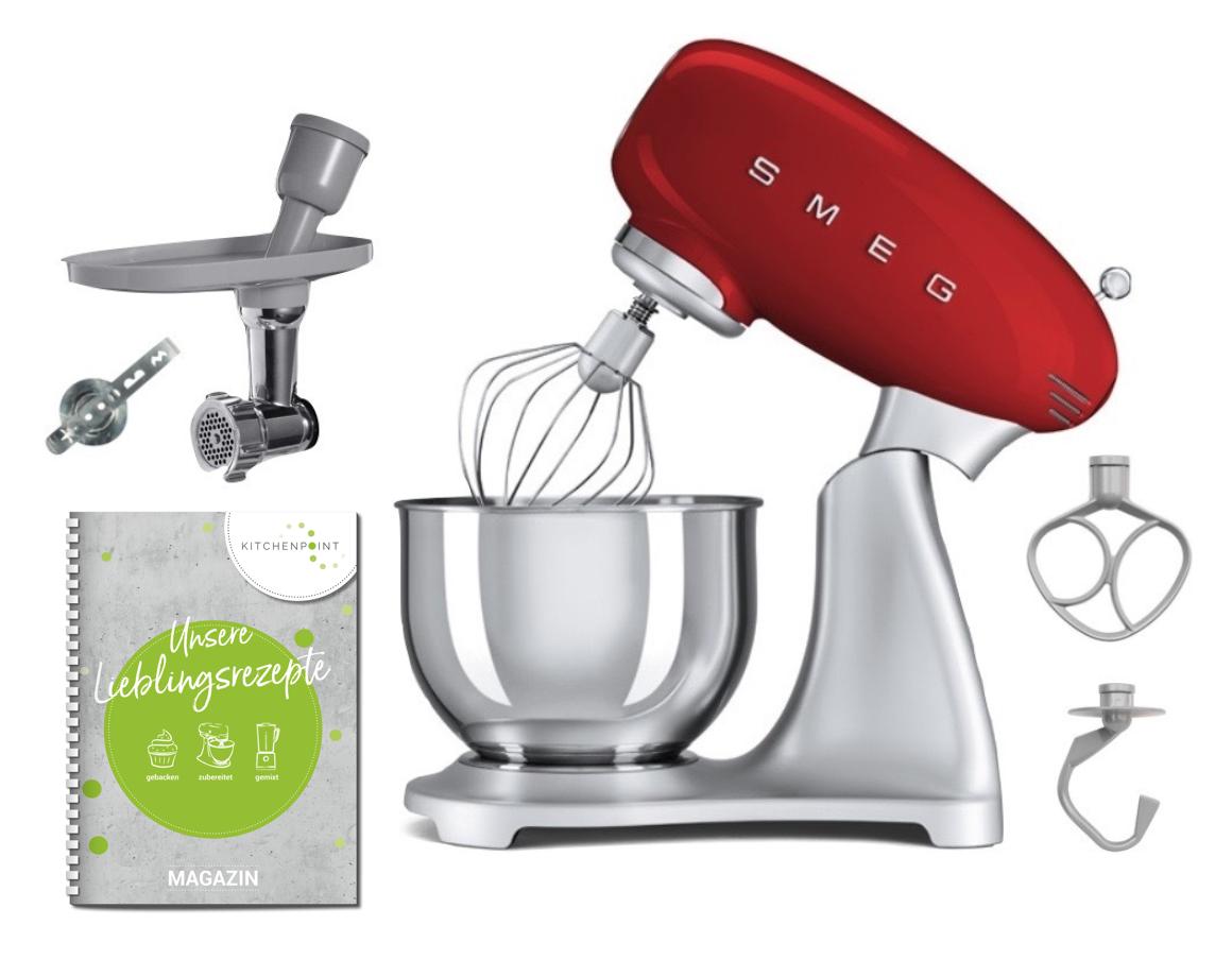 SMEG Küchenmaschine SMF02 Rot - Back Set