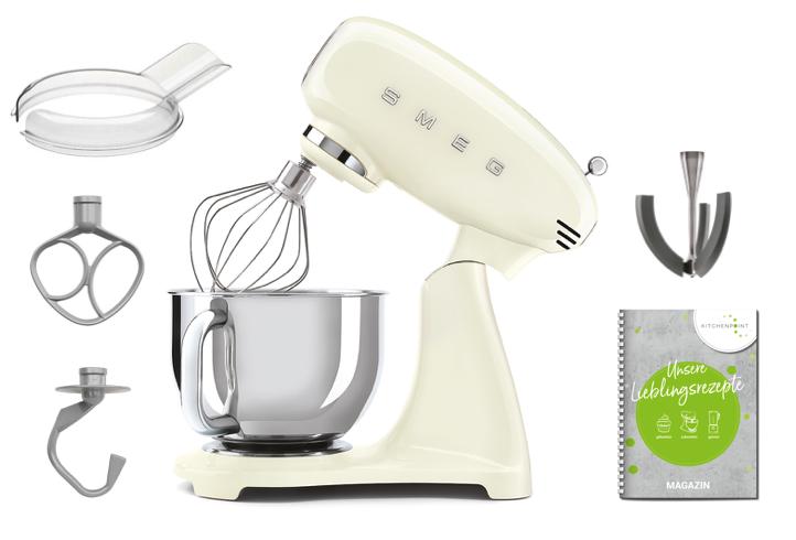 SMEG Küchenmaschine Vollfarbe Creme