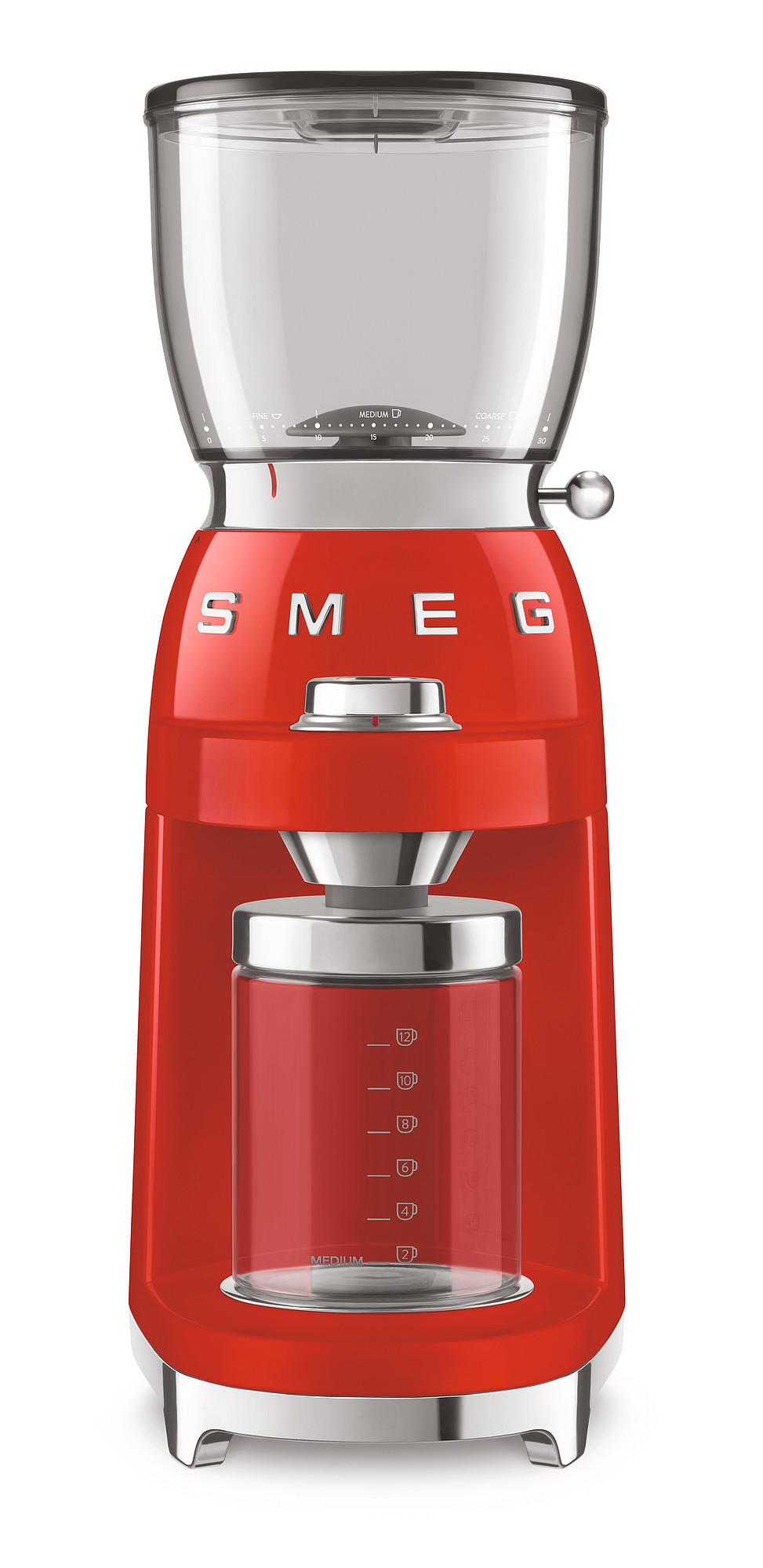 SMEG Kaffeemühle rot