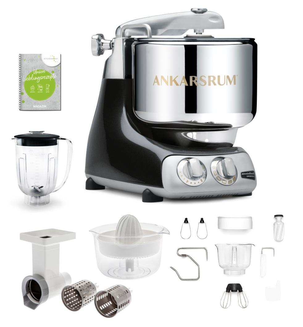 Ankarsrum Küchenmaschine Black Diamond - Go Green Set