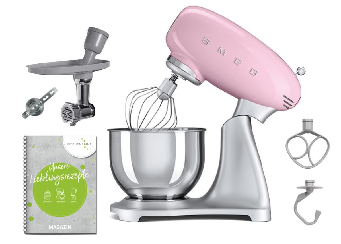 SMEG Küchenmaschine SMF02 Cadillac Pink - Back Set