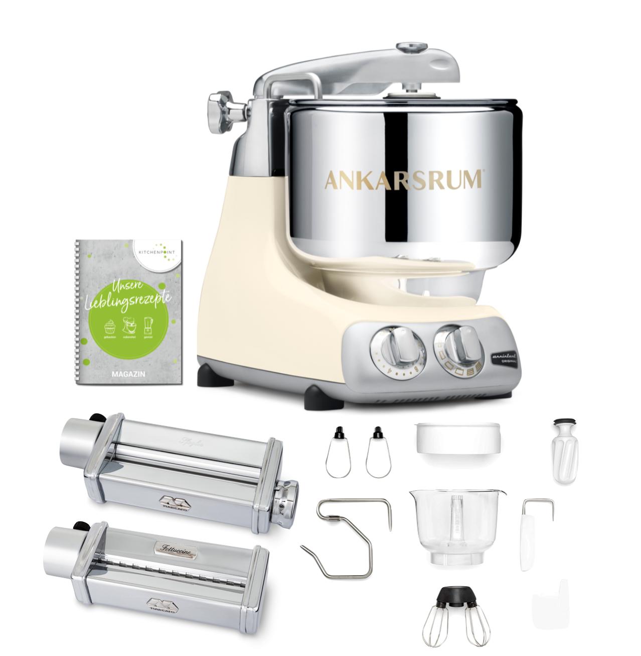 Ankarsrum Küchenmaschine Assistent Light Creme - Pasta Set