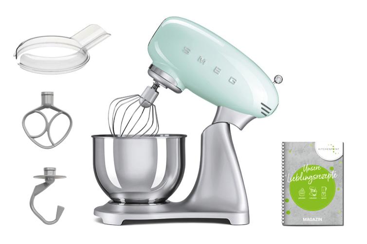 SMEG Küchenmaschine SMF02 Pastellgrün