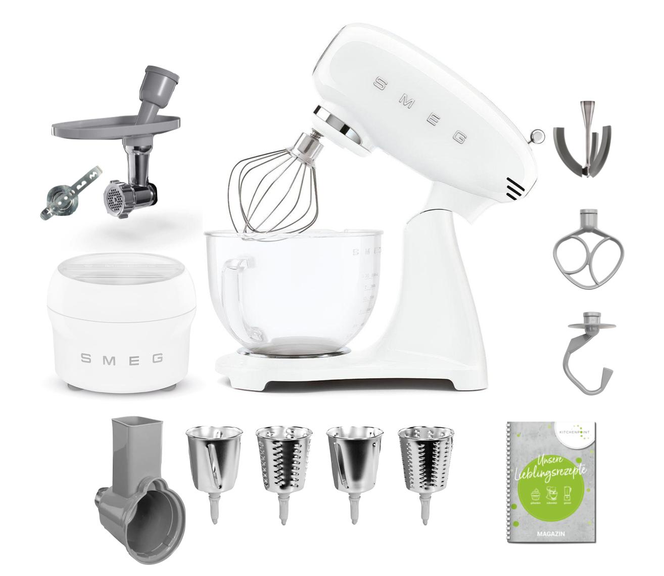 SMEG Küchenmaschine SMF13 Vollfarbe - Gourmet Set Weiss