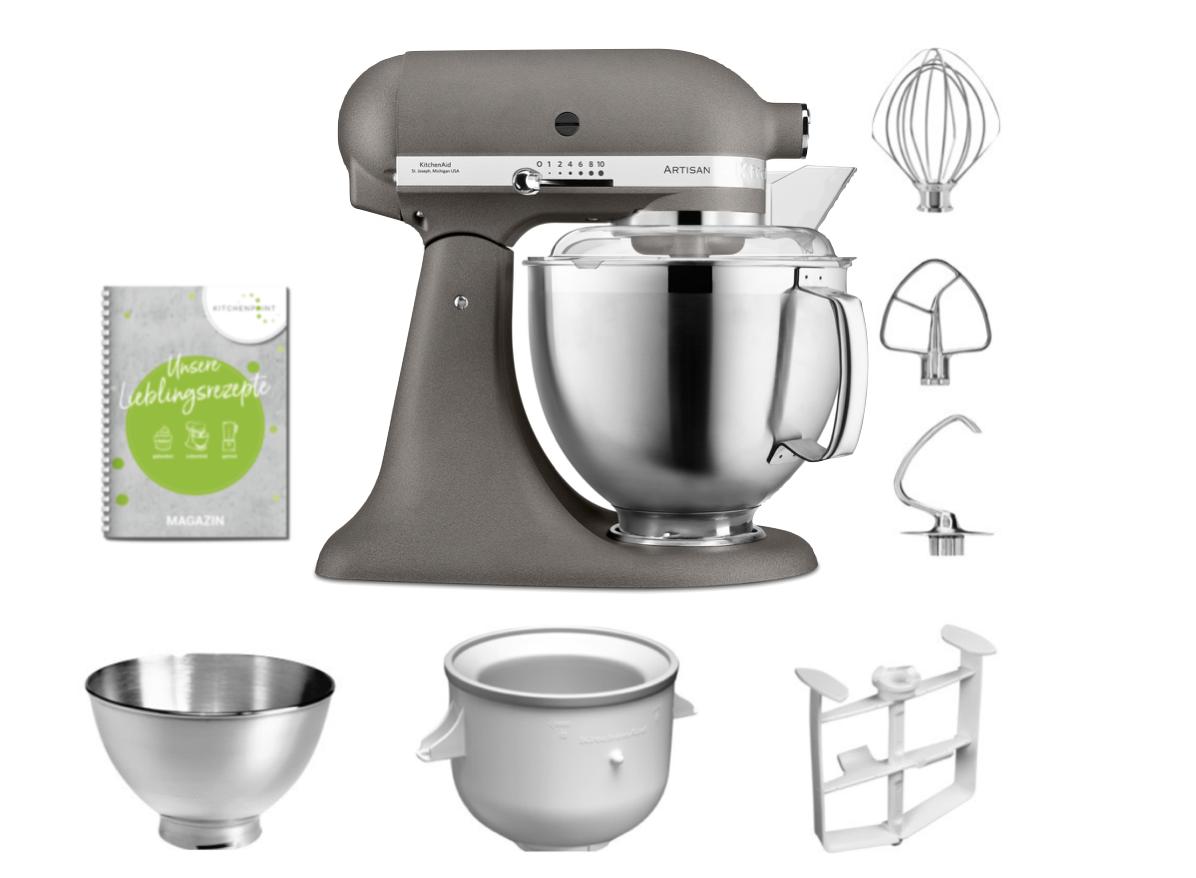 KitchenAid Küchenmaschine 185 Eis Set Grau