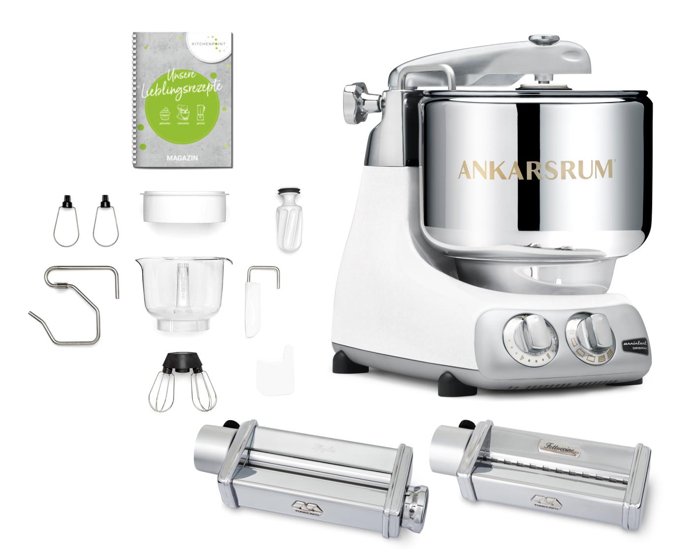 Ankarsrum Küchenmaschine Assistent Mineral White - Pasta Set