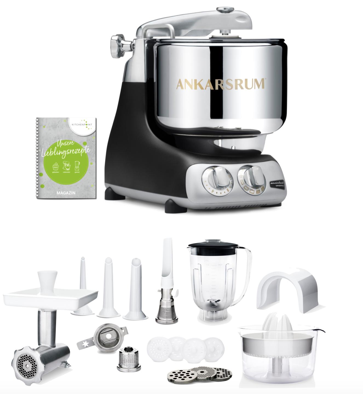 Ankarsrum Küchenmaschine Black Matt - Deluxe Set