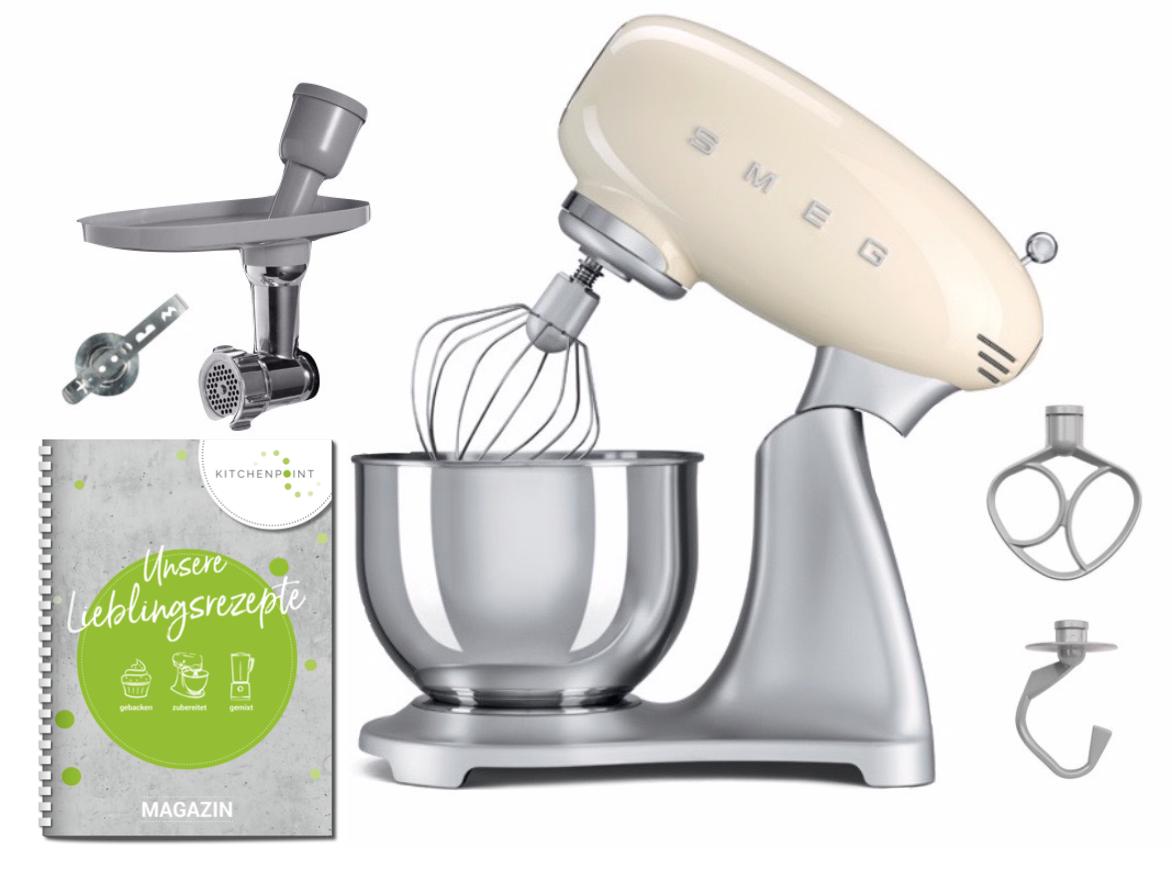 SMEG Küchenmaschine SMF02 Creme - Back Set