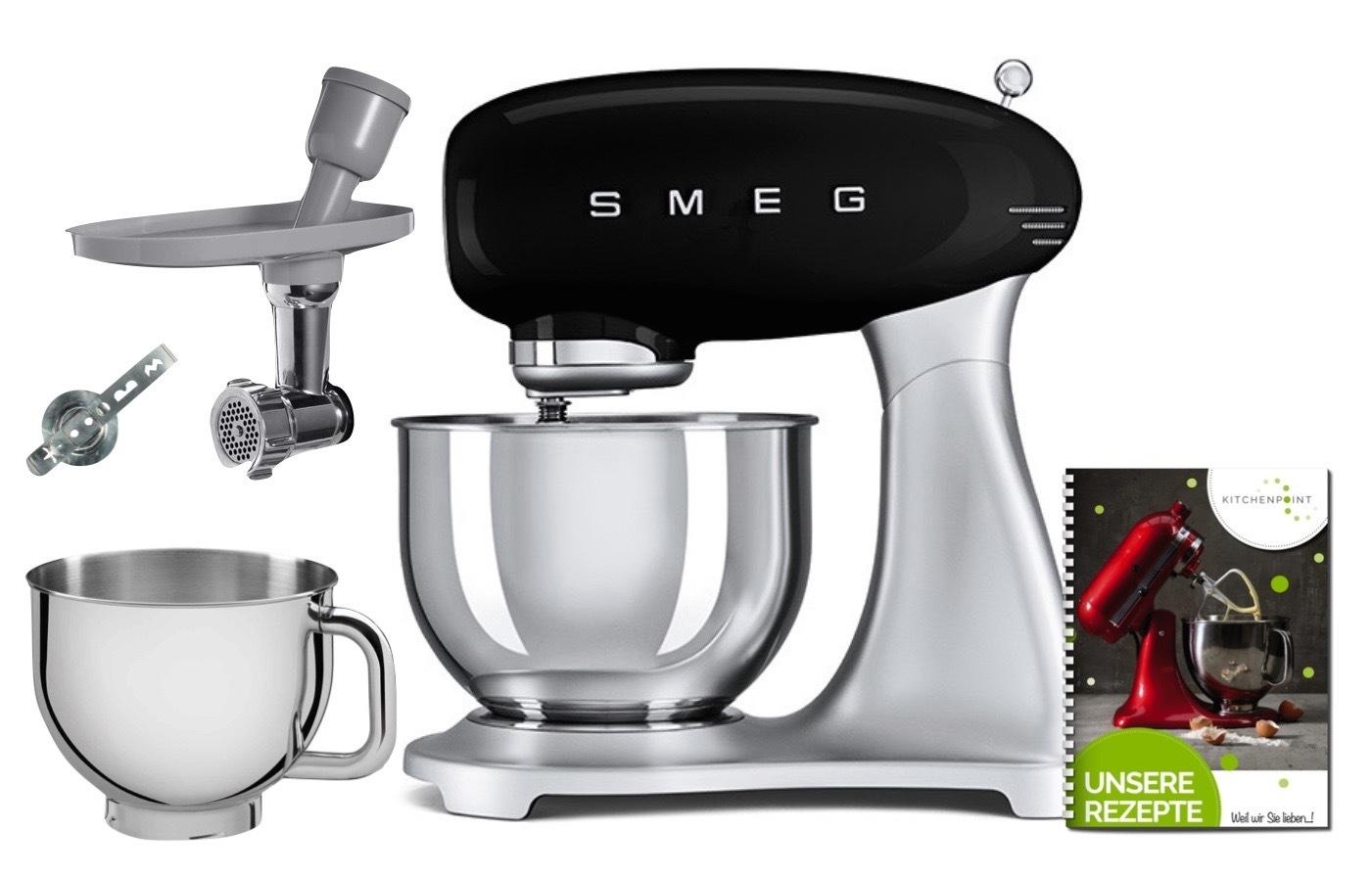 SMEG Küchenmaschine SMF02 - Back Mega Set Schwarz