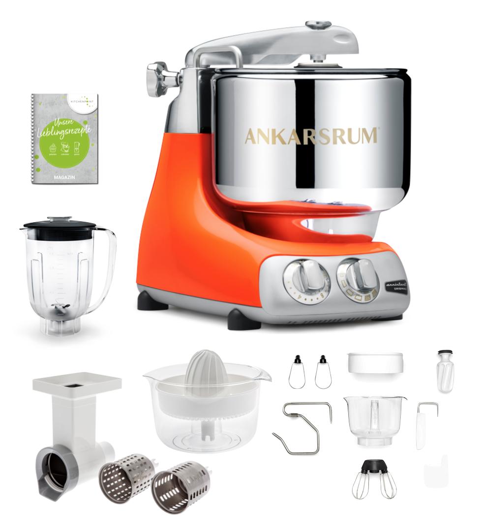 Ankarsrum Küchenmaschine Pure Orange - Go Green Set