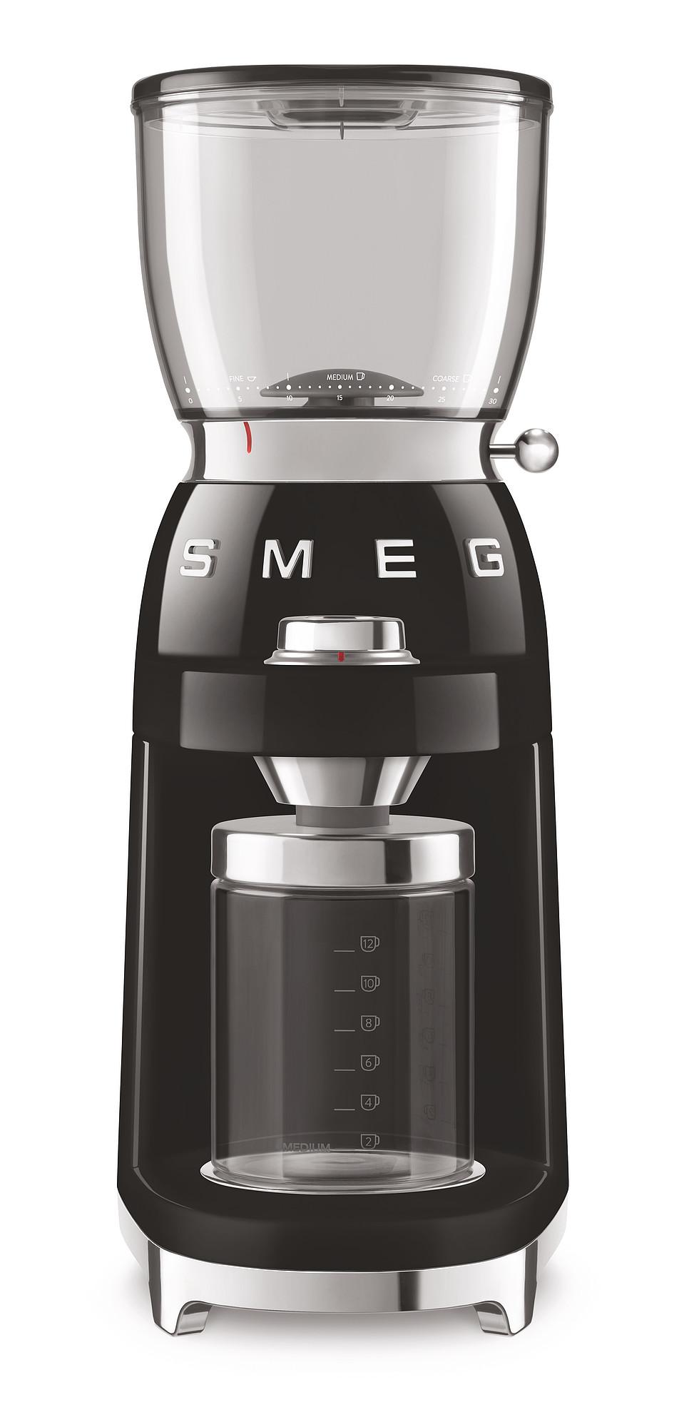SMEG Kaffeemühle schwarz