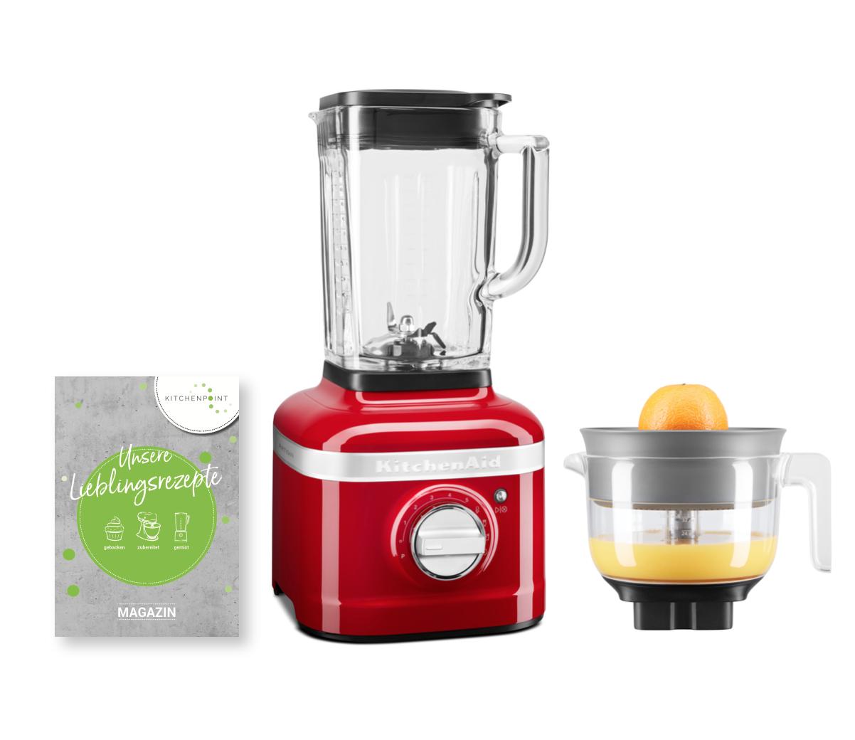 KitchenAid Blender K400 Zitruspressen Set Candy Apple