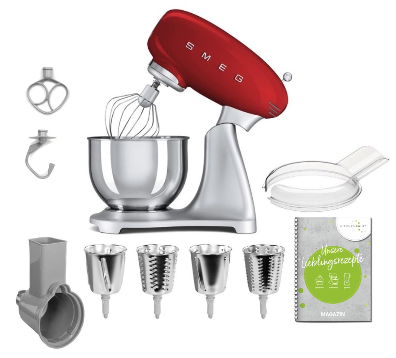 SMEG Küchenmaschine SMF02 - Gemüse Set Rot