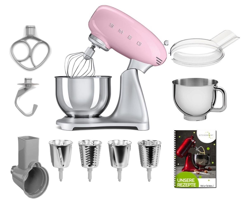 SMEG Küchenmaschine SMF02 - Gemüse Mega Set Cadillac Pink