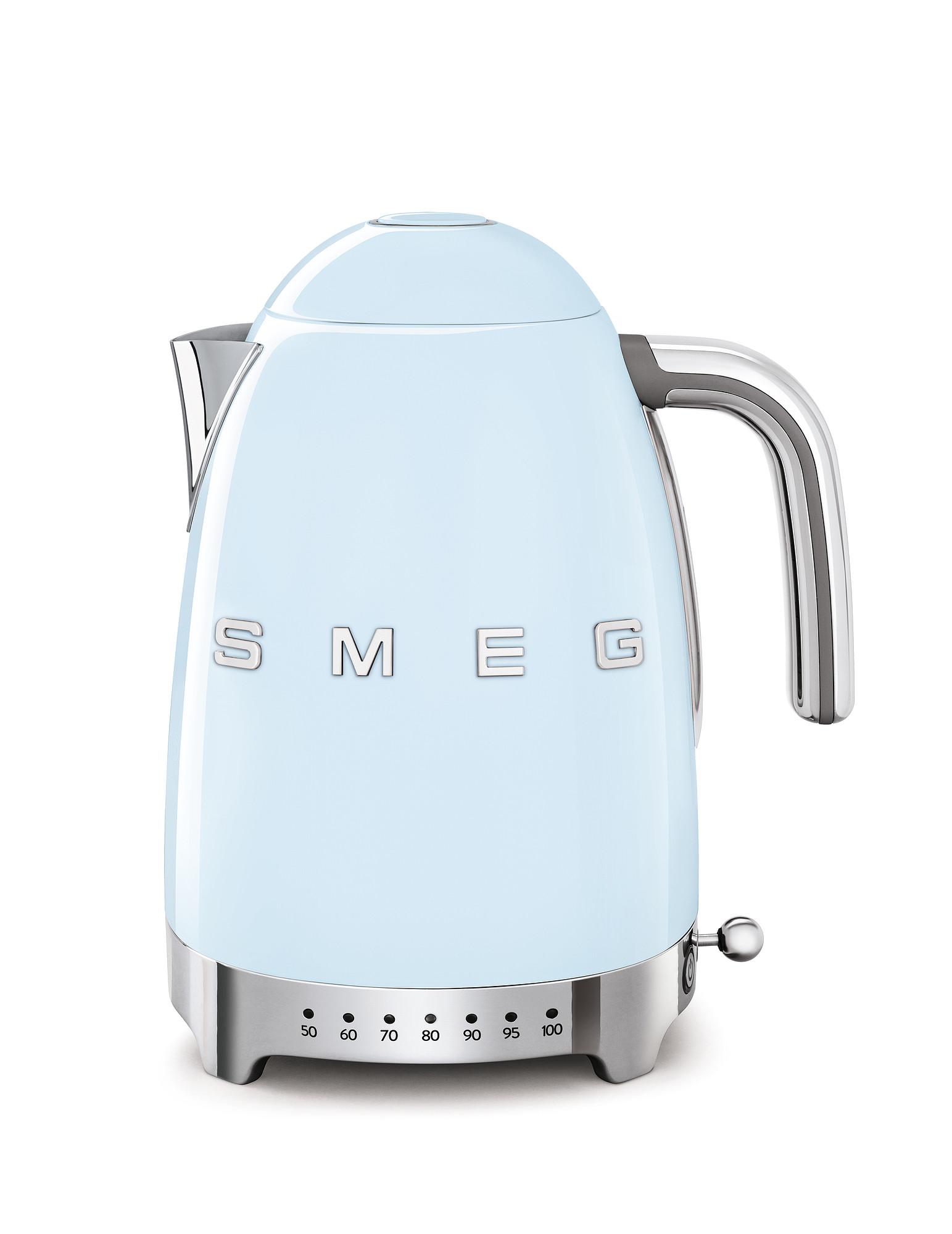 SMEG Wasserkocher Temperaturregelung Pastellblau