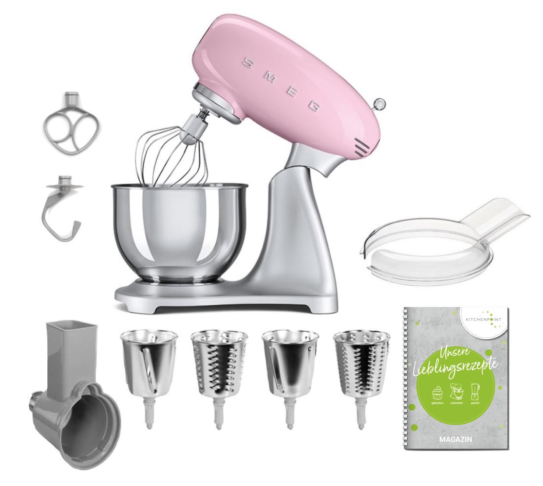 SMEG Küchenmaschine SMF02  - Gemüse Set Cadillac Pink