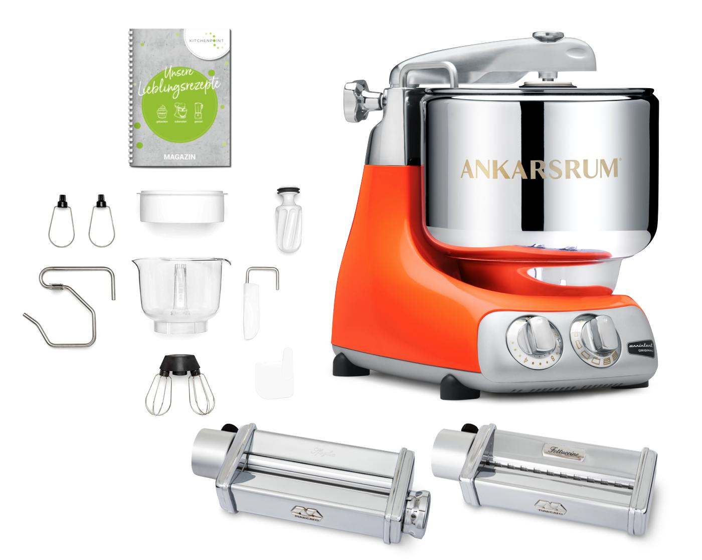 Ankarsrum Küchenmaschine Assistent Pure Orange - Pasta Set