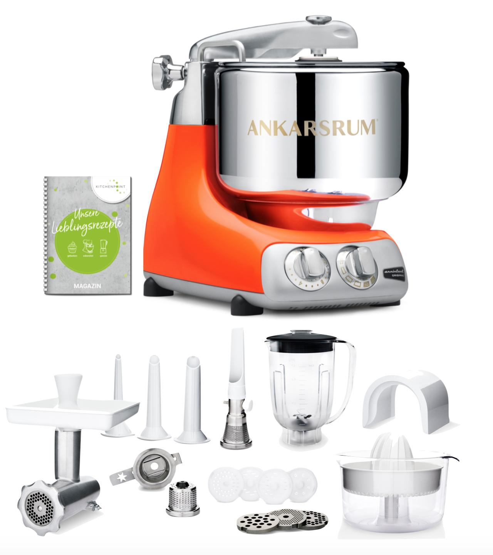 Ankarsrum Küchenmaschine Pure Orange  - Deluxe Set